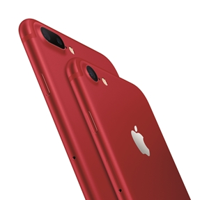 No más rosado: Apple presenta sus iPhone 7 y iPhone 7 Plus en un rojo solidario